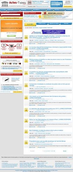 Le site Actes-Types.com