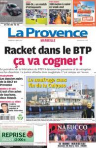 La Provence Marseille du vendredi 13 mars 2015