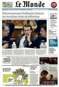 Le Monde du Vendredi 13 Mars 2015