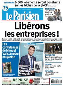Le Parisien + Journal de Paris du Vendredi 13 Mars 2015