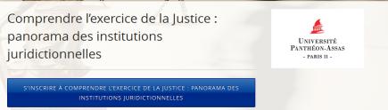 MOOC - comprendre l'exercice de la justice - panorama des institutions juridictionnelles