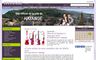 SITE DE LA VILLE DE HAYANGE